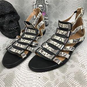 Calvin Klein snake skin gladiator sandals